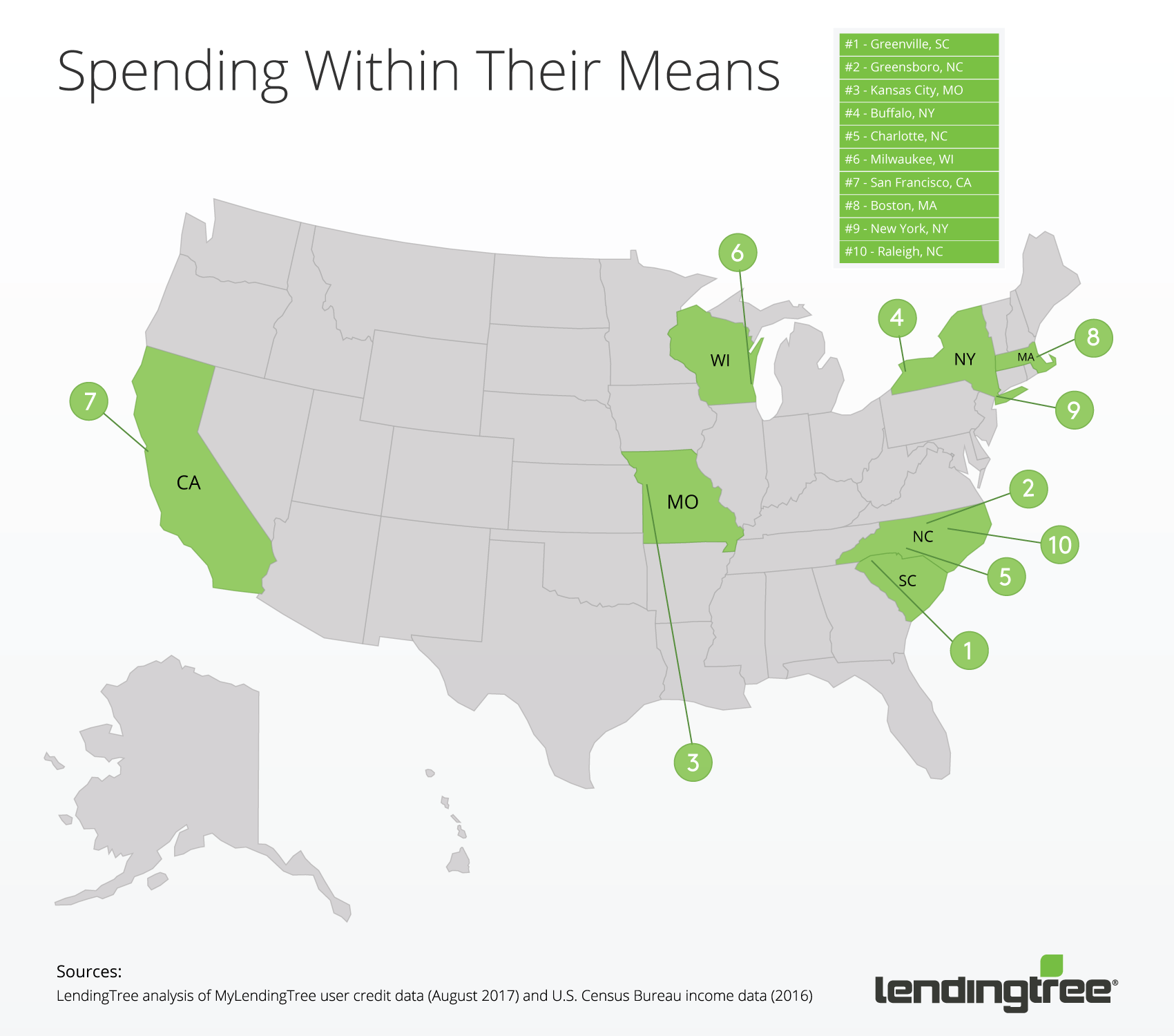 Where residents are most likely to spend within their means