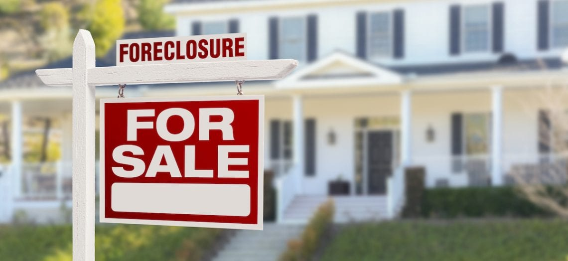 foreclosure for sale sign house